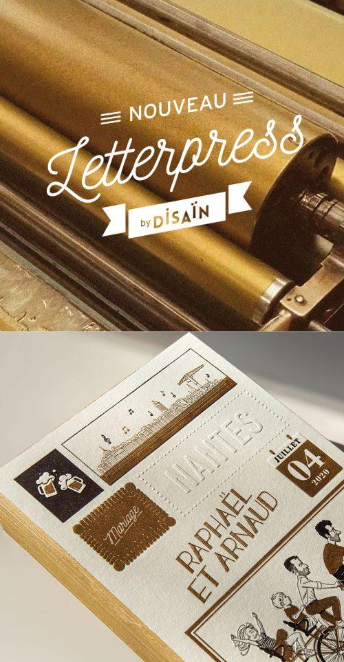 Letterpress by Disaïn